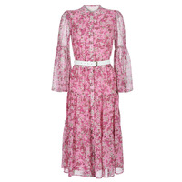 Textiel Dames Lange jurken MICHAEL Michael Kors ENCHANTED BLOOM DRESS Roze