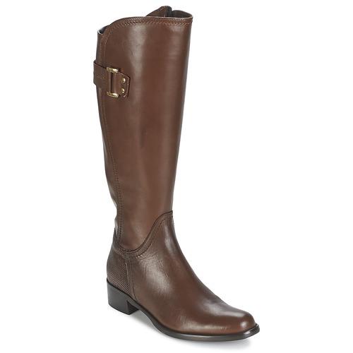 Schoenen Dames Hoge laarzen Moda In Pelle SANTOSA Tan