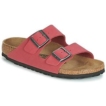 Schoenen Dames Leren slippers Birkenstock ARIZONA Rood