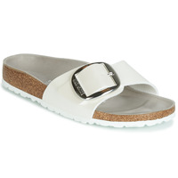Schoenen Dames Leren slippers Birkenstock MADRID BIG BUCKLE Wit