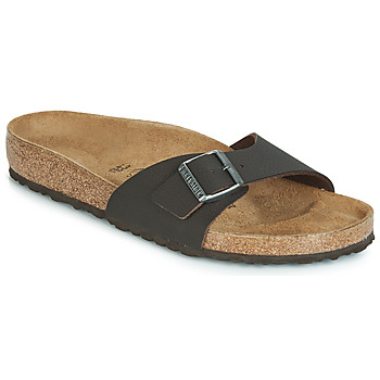 Schoenen Heren Leren slippers Birkenstock MADRID Brown