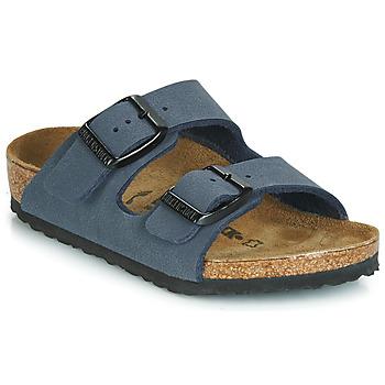 Schoenen Jongens Leren slippers Birkenstock ARIZONA Navy