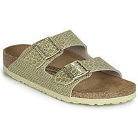 Schoenen Dames Leren slippers Birkenstock ARIZONA Goud