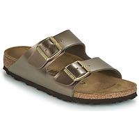 Schoenen Dames Leren slippers Birkenstock ARIZONA Brons