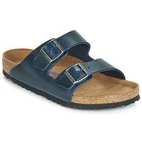 Schoenen Heren Leren slippers Birkenstock ARIZONA SFB Blauw