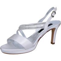 Schoenen Dames Sandalen / Open schoenen Bacta De Toi sandali bianco raso strass BT845 Bianco