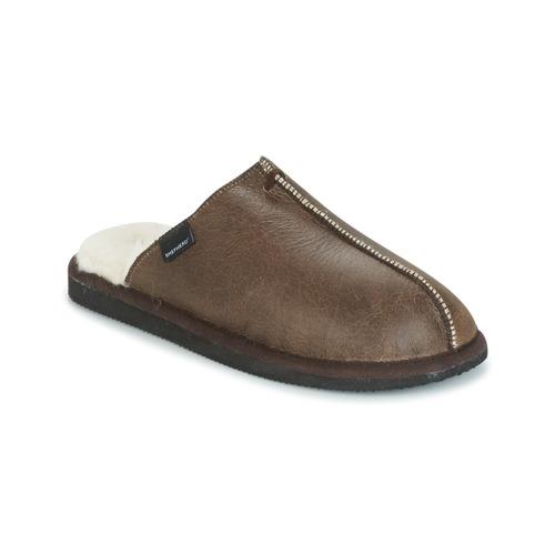 Schoenen Heren Sloffen Shepherd HUGO Brown