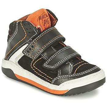 Schoenen Jongens Hoge sneakers Primigi MOTT Zwart / Orange