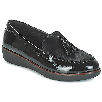 Schoenen Dames Mocassins FitFlop PAIGE FAUX-PONY Zwart