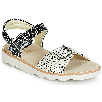 Schoenen Meisjes Sandalen / Open schoenen Clarks Crown Bloom T Zwart