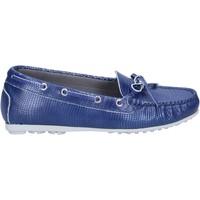 Schoenen Dames Mocassins K852 & Son mocassini blu pelle BT933 Blu