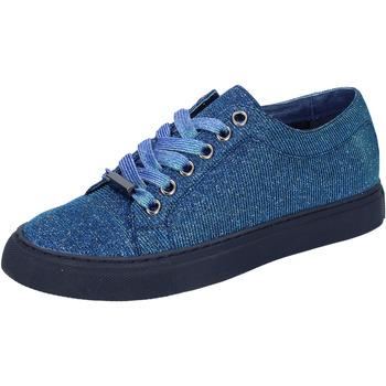 Schoenen Dames Lage sneakers Sara Lopez sneakers blu tessuto BT995 Blu