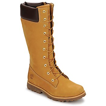 Schoenen Kinderen Hoge laarzen Timberland GIRLS CLASSIC TALL LACE UP WITH SIDE ZIP Cognac