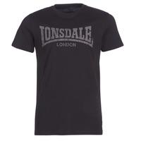 Textiel Heren T-shirts korte mouwen Lonsdale LOGO KAI Zwart