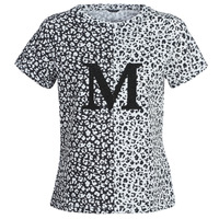 Textiel Dames T-shirts korte mouwen Marciano RUNNING WILD Zwart / Wit