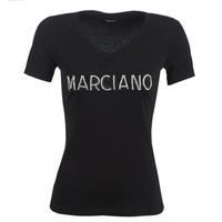 Textiel Dames T-shirts korte mouwen Marciano LOGO PATCH CRYSTAL Zwart