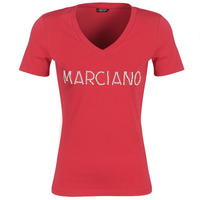 Textiel Dames T-shirts korte mouwen Marciano LOGO PATCH CRYSTAL Rood