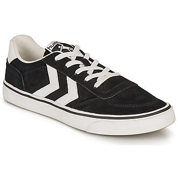 Schoenen Lage sneakers Hummel STADIL 3.0 SUEDE Zwart / Wit