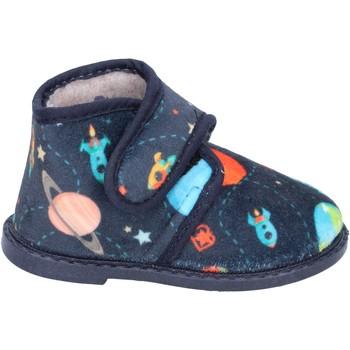 Schoenen Jongens Sloffen Blaike pantofole blu tessuto BS50 Blu