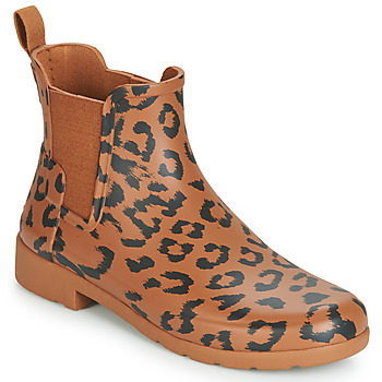 Schoenen Dames Regenlaarzen Hunter ORG REFINED CHELSEA HYBRD PRNT Leopard