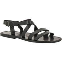 Schoenen Heren Sandalen / Open schoenen Gianluca - L'artigiano Del Cuoio 531 U NERO CUOIO nero