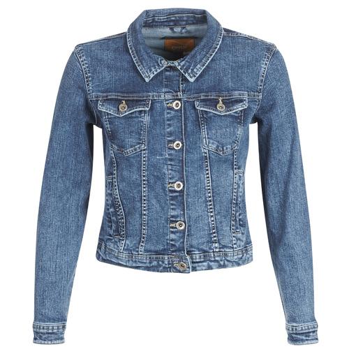 Textiel Dames Spijker jassen Only ONLTIA Blauw / Medium