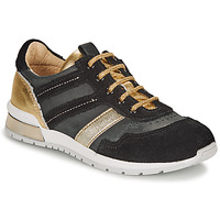 Schoenen Meisjes Lage sneakers Catimini CAMELINE Zwart / Goud
