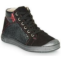 Schoenen Meisjes Hoge sneakers GBB ORENGETTE Zwart / Zilver
