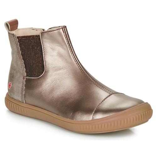 Schoenen Meisjes Laarzen GBB ONAO Brons / Taupe
