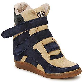 Schoenen Dames Hoge sneakers Buffalo GINGERWA Marine / Beige