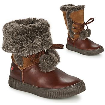 Schoenen Meisjes Laarzen GBB NOUSTIK Brown