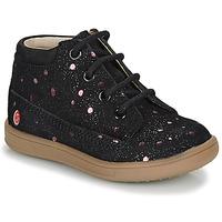Schoenen Meisjes Laarzen GBB NINON Zwart / Roze