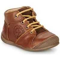 Schoenen Jongens Laarzen GBB OULOU Brown / Cognac