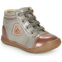 Schoenen Meisjes Hoge sneakers GBB OTANA Grijs / Roze
