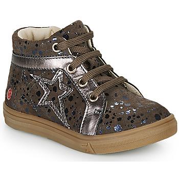 Schoenen Meisjes Hoge sneakers GBB NAVETTE Taupe