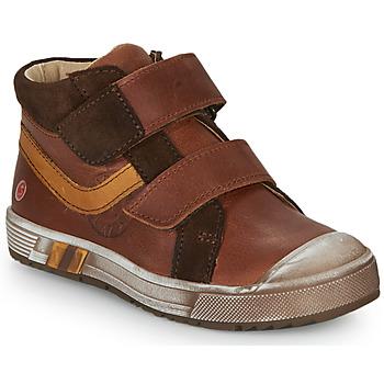 Schoenen Jongens Hoge sneakers GBB OMALLO Brown