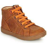 Schoenen Jongens Hoge sneakers GBB ANGELITO Cognac / Orange