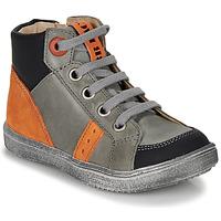 Schoenen Jongens Hoge sneakers GBB ANGELITO Grijs / Orange