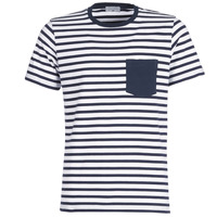 Textiel Heren T-shirts korte mouwen Casual Attitude KARALE Marine / Wit