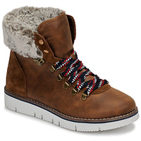Schoenen Dames Laarzen Skechers BOBS ROCKY Brown