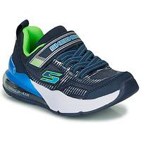 Schoenen Jongens Lage sneakers Skechers SKECHERS BOY Blauw / Groen