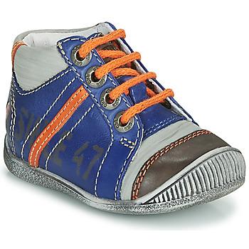 Schoenen Jongens Laarzen GBB ISIS Blauw / Orange