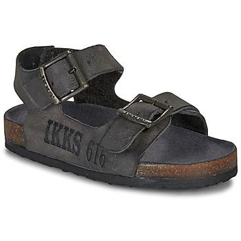 Schoenen Jongens Sandalen / Open schoenen Ikks CURTIS Zwart