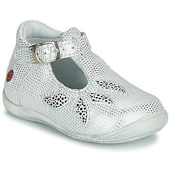 Schoenen Meisjes Sandalen / Open schoenen GBB MARIE Wit / Zilver
