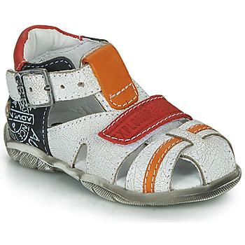 Schoenen Jongens Sandalen / Open schoenen GBB MELVIL Wit / Rood / Orange