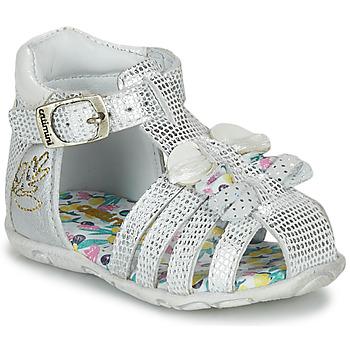 Schoenen Meisjes Sandalen / Open schoenen Catimini CYGNE Zilver