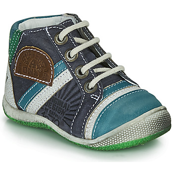 Schoenen Jongens Laarzen Catimini CIGOGNE Blauw / Groen