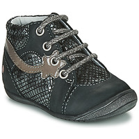 Schoenen Meisjes Laarzen GBB NOEMIE Zwart / Zilver