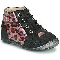 Schoenen Meisjes Laarzen GBB NICOLE Zwart / Roze