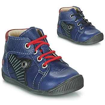 Schoenen Jongens Laarzen GBB NATALE Blauw / Rood